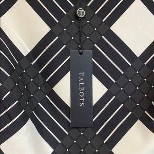 Talbots Tops - Talbots Black and White Pattern Silk Tank Top